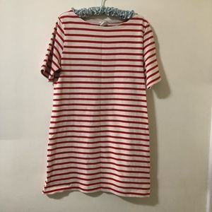 H&M Striped Dress.  Red and white. Size Medium
